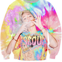 Smoking Miley Cyrus Trippy Sweatshirt