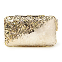 Anndra Neen Diagonal Melted Clutch - ShopBAZAAR