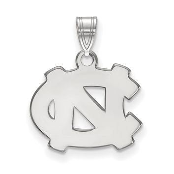 NCAA Sterling Silver North Carolina Small Pendant Necklace