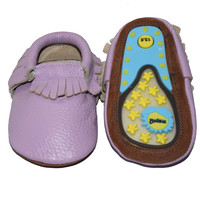 Crazy Feet- Rubber Sole (soft purple)