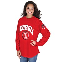 Georgia Bulldogs Women's Edith Long Sleeve Shirt - Red