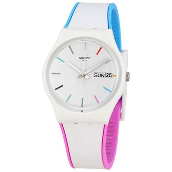 Swatch Edgyline White Dial Mens Multicolored Watch GW708