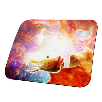 Galaxy Axolotl Mexican Salamander All Over Mouse Pad