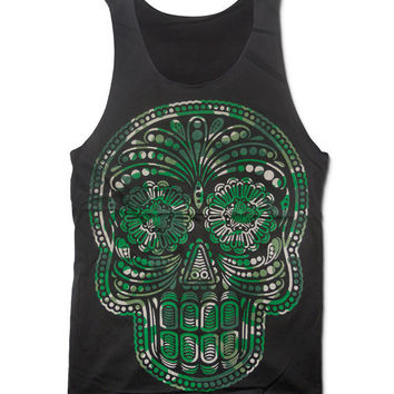 SUGAR SKULL Tank Top Day Of The Dead Shirt Size S M
