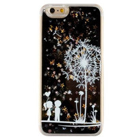 Unique Quicksand Twinkle Lace Dandelion Lover Case Cover for iPhone 5s 5se 6 6s Plus Free Gift Box 47