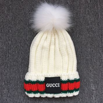 GUCCI Women Men Warm Woolen Embroidery Beanies Knit Hat