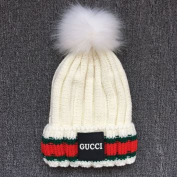 GUCCI Women Men Warm Woolen Embroidery Beanies knitted Hat