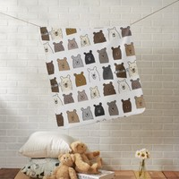 Bear Portraits Baby Blanket