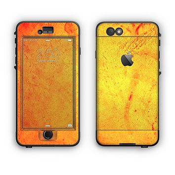 The Orange Vibrant Texture Apple iPhone 6 Plus LifeProof Nuud Case Skin Set