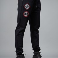 BOY PATCH JOGGER BLACK