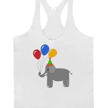 Cute Elephant with Balloons Mens String Tank Top