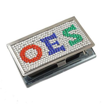 Crystal Card Case Holder Order of the Eastern Star OES