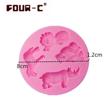 3D Lovely Wild Animals DIY Baking Mold Fondant Cookies Bakeware Kid Birthday Party Cake Decor Silicone Mould Tool Tiger Zebra