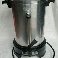 West Bend Coffeemaker Percolator Urn 55 Cup View Tube Electric 1500 Watts 13500