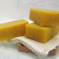 Handmade Organic Carrot Soap Cold Process by SweetSallysSoaps