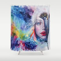 Coralized Shower Curtain by Tanya Shatseva