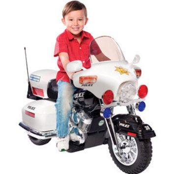 Walmart: Kid Motorz Police Motorcycle 12-Volt Battery-Powered Ride-On