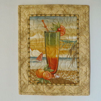 Quilted Wall Hanging Snack Mat Mug Rug Paradise 592