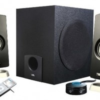Cyber Acoustics 18W Peak Power Dynamic Speaker System with Subwoofer and Control Pod (CA-3090)