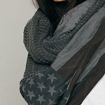 Free People  American Flag Infinity Scarf at Free People Clothing Boutique