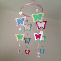 Baby Mobile - Butterflies - Kid's Decor - Butterfly Mobile - Nursery Decor - Crib Mobile
