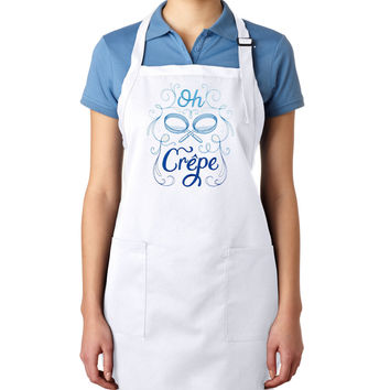 Oh Crepe EMBROIDERED Men's Apron Woman's Apron (May be Personalized)