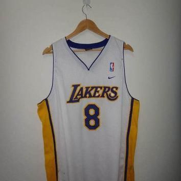 15 off sale rare kobe bryant nike los angeles lakers 8 jersey stitch used nba basket  number 2