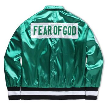 Fear of God bomber jacket men winter baseball trench pilot coat windbreaker parka military tactical army autumn hunting clothes hip hop 2017