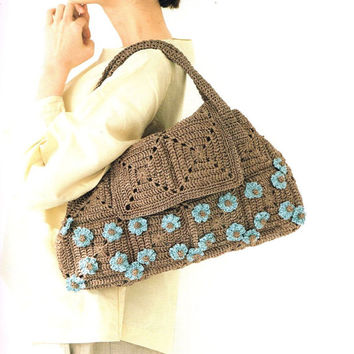 Eco Andaria Crochet Bag Patterns - Japanese Craft Book - Summer Yarn, Easy Crochet Tutorial, Tote Bag, Shopping Bag, Pouch, Eco Bag, B1631
