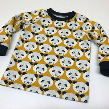 Boy Toddler Sweater, Baby Boys Sweater, custom size, Warm Winter Sweater for Boys, Boys Winter Sweater, European Kids Sweater with Panda