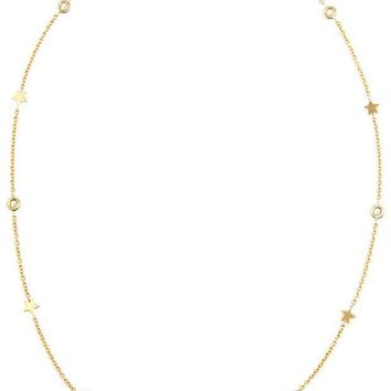 Luis Miguel Howard 18k Gold Stars And Diamond Necklace