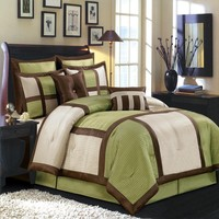 Morgan Sage Luxury 8-Piece Comforter Set