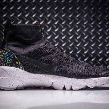 Nike Air Footscape Magista Flyknit Mens Lifestyle New Black/ White Sneakers