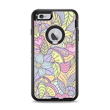 The Subtle Abstract Flower Pattern Apple iPhone 6 Plus Otterbox Defender Case Skin Set