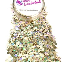 Champagne Bubbly Iridescent Body and Face Festival Glitter (Large 15 Grams)