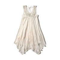 Floral Lace Handkerchief Dress