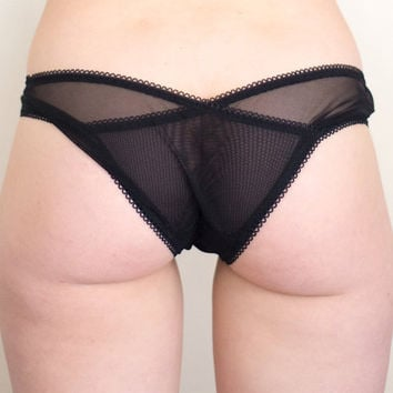Black Sweet Heart Panties - Sweet Tooth Lingerie