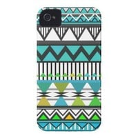 Turquoise Tribal 2 Pattern iPhone 4/4S Case-Mate C iPhone 4 Case-Mate Cases from Zazzle.com