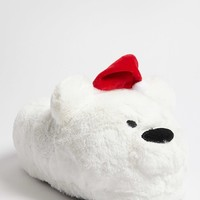 Holiday Polar Bear Fleece Slippers