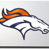 Rico Denver Broncos Laser Cut Silver License Plate