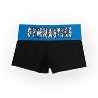 Black/Blue (Zebra Gymnastics) Foldover Shorts