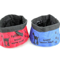 Pet Dog Cat Folding Collapsible Travel Food Dish Water Bowl = 1930101316