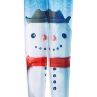 Girl's Zara Terez 'Build a Snowman' Print Leggings