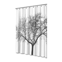Waterproof Shower Curtain with Tree Design/Black Big Tree Bathroom Waterproof Curtain