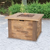SheilaShrubs.com: UniFlame LP Gas Outdoor Firebowl With Faux Stacked Stone GAD1338SP by Blue Rhino: Fire Pits