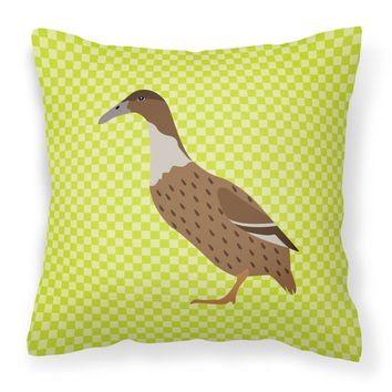 Dutch Hook Bill Duck Green Fabric Decorative Pillow BB7687PW1414