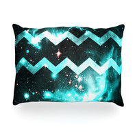 "Alveron ""Aqua Galaxy Chevron"" Oblong Pillow"