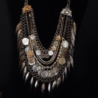 Turkish Bohemian Gypsy Coin Fringe Necklace