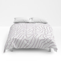 Abstract landscape Comforters by printapix