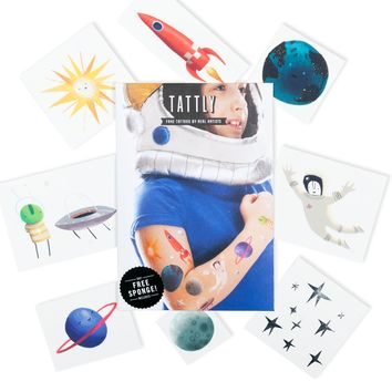 Space Explorer Tattoo Set
